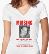 "Breaking Bad ""Missing"" Poster Women's Fitted V-Neck T-Shirt"