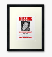 "Breaking Bad ""Missing"" Poster Framed Print"