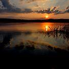 Sunset at Lake Kochelsee by Daidalos