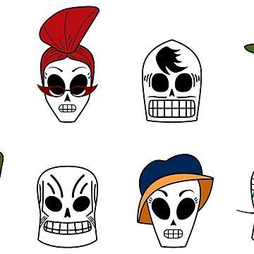 Grim Fandango Skulls by Dandi-boy