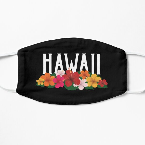 Hawaii Flowers Vintage Mask
