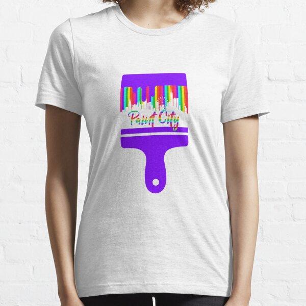 ColorFul Paint City View Print Essential T-Shirt