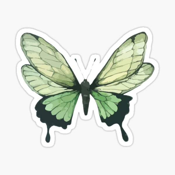 Green Aesthetic Stickers Redbubble