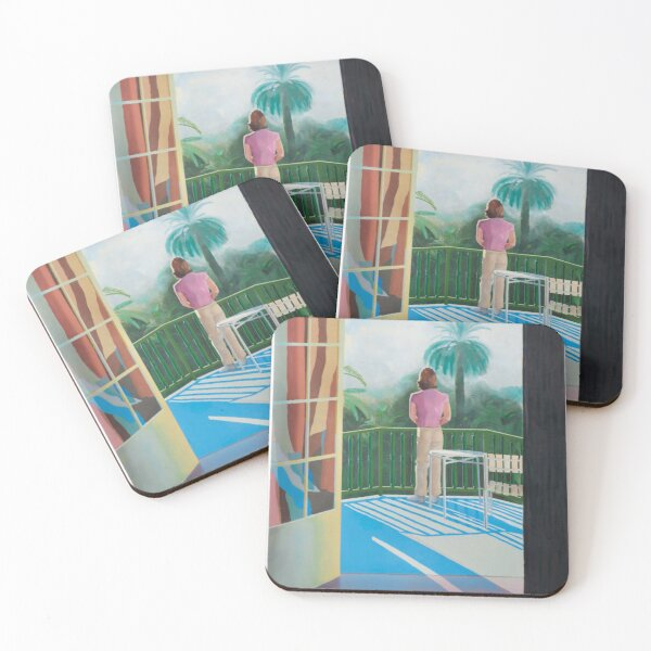 David Hockney Sur La Terrasses  Coasters (Set of 4)
