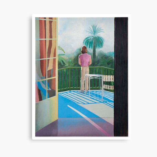 David Hockney Sur La Terrasses  Canvas Print