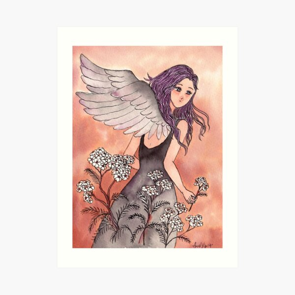 The Girl with Wings Art Print