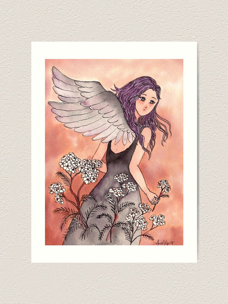 Alternate view of The Girl with Wings Art Print
