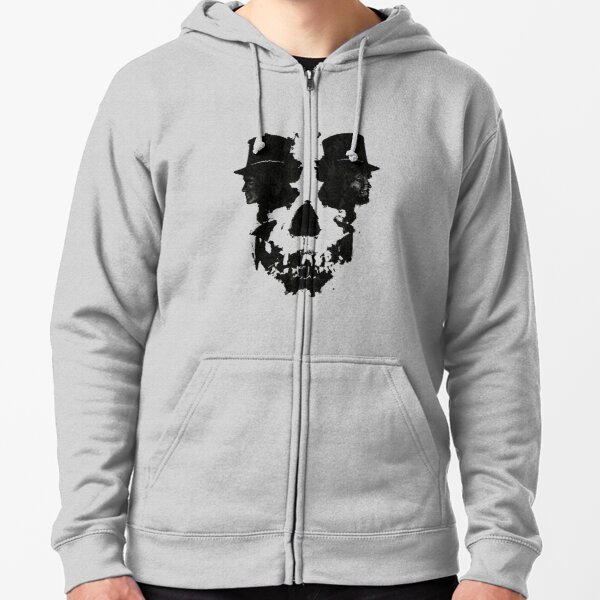 Skull of Jekyll/Hyde Zipped Hoodie