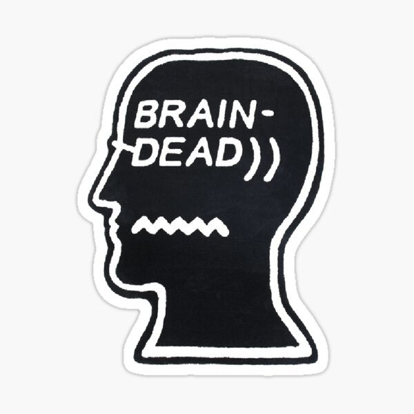 I FEEL *DEAD*LOCK ON MY +BRAIN+ WHEN DO EXAM Sticker