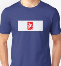 Accessible Means of Egress Icon Emergency Exit Sign, Left Hand Unisex T-Shirt