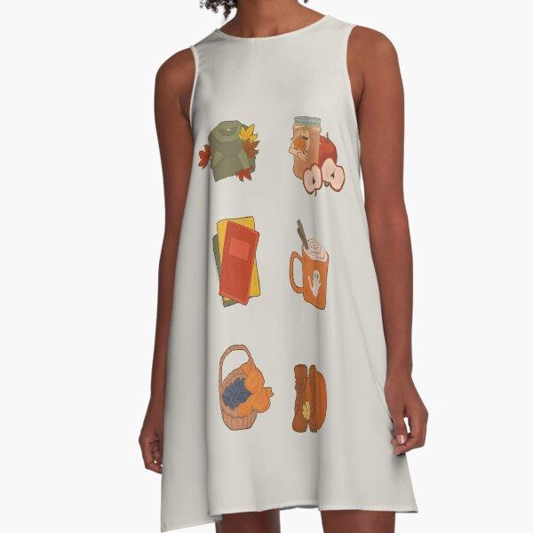 Cozy Autumn Mood A-Line Dress