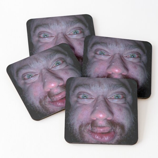 """""""Sam Hyde Face Meme """" Coasters (Set of 4) by Merch-On ..."""