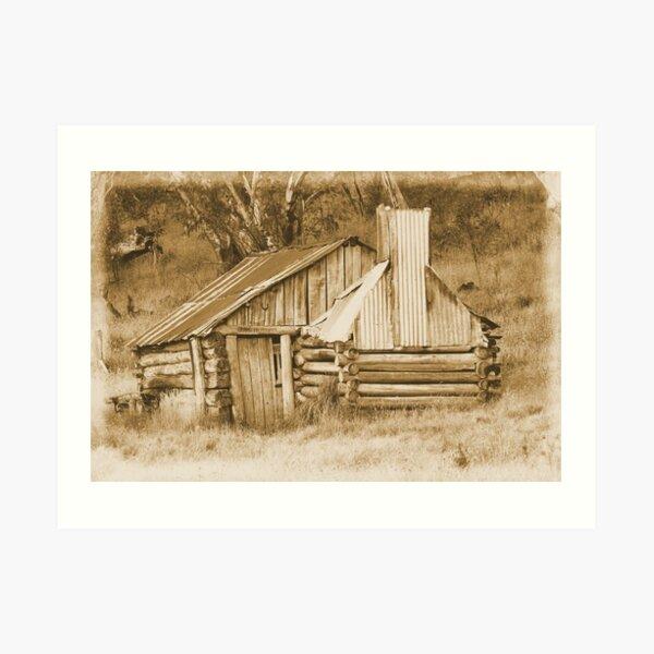 Guys hut Howitt plains. Art Print