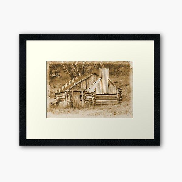 Guys hut Howitt plains. Framed Art Print