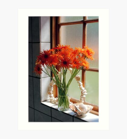 THE BATHROOM WINDOW Art Print