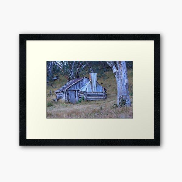 Guys hut Howitt plains Framed Art Print