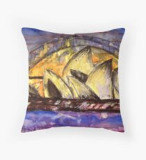 Hot Sydney Night Throw Pillow