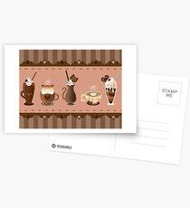 Cute Cat Cafe Postcards