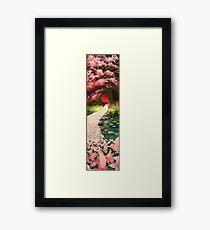 Cherry Blossom Geisha Framed Print