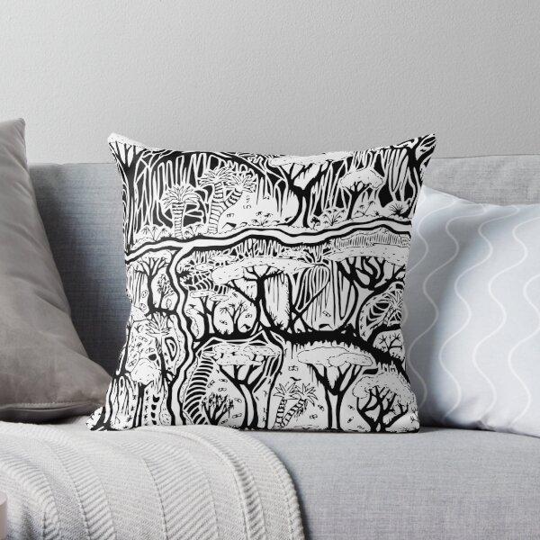 Kiwi Forest Throw Pillow
