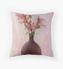 Study In Pink Throw Pillow