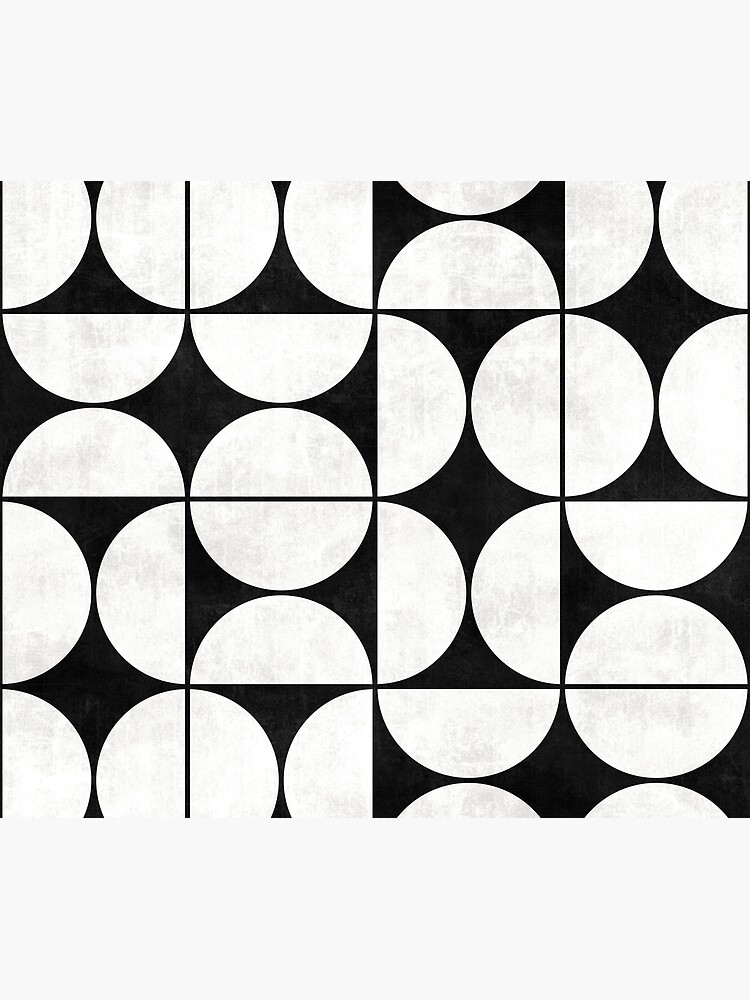 Mid-Century Modern Pattern No.2 - Black and White Concrete by ZoltanRatko