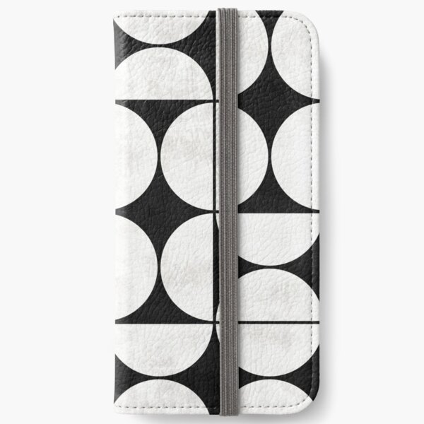 Mid-Century Modern Pattern No.2 - Black and White Concrete iPhone Wallet