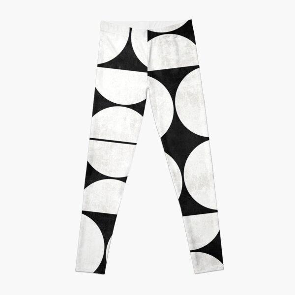 Mid-Century Modern Pattern No.2 - Black and White Concrete Leggings