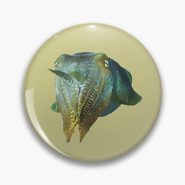 Tintenfisch abstrakt | Schillernde Sepia |  Button
