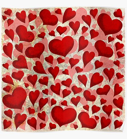 Red Hearts ♥ Poster