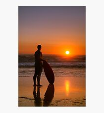 Surfer watching the waves Photographic Print