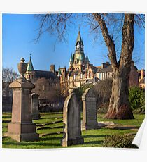 Panoramic View of Dunfermline Abbey and City Chambers Poster