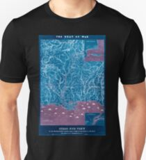 Civil War Maps 0196 Birds eye view of the Mississippi Valley from Cairo to the Gulf of Mexico Inverted T-Shirt