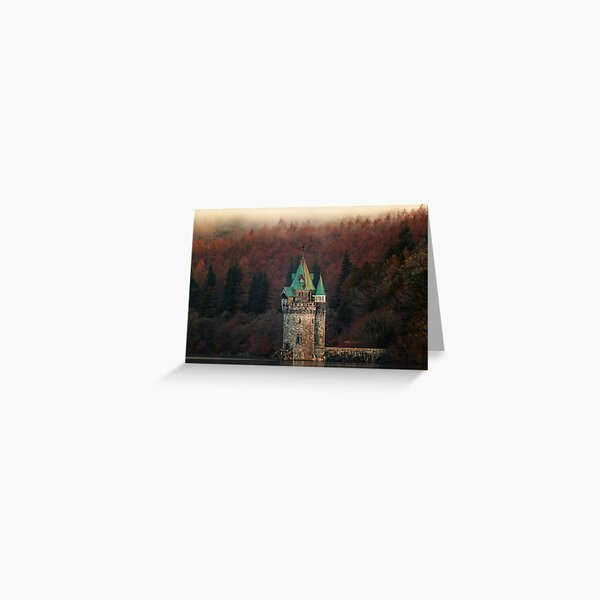 Fantasy Fairy Tale Princess Tower In The Misty Woods Greeting Card