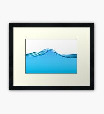 Blue water line Framed Print