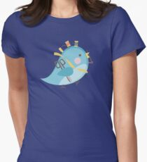Cute seamstress bird sewing notions Womens Fitted T-Shirt