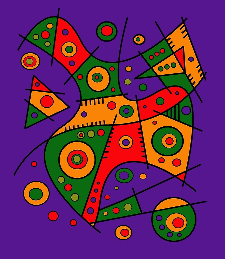Abstract #240 Pizza Party by Rockett Graphics