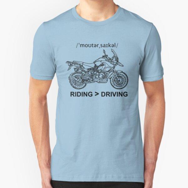 Adventure Bike Style Illustration Slim Fit T-Shirt