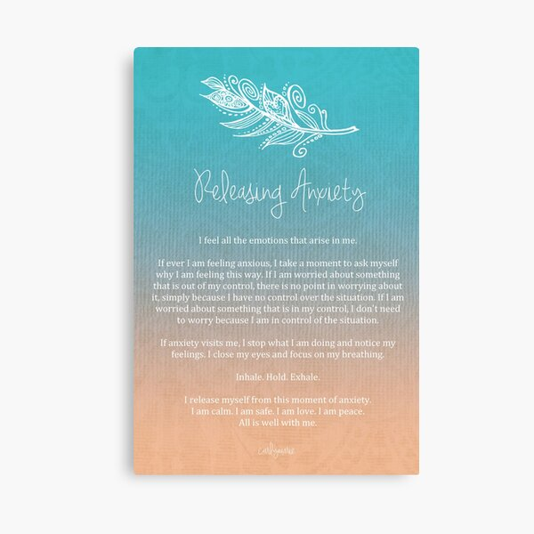 Affirmation - Releasing Anxiety Canvas Print