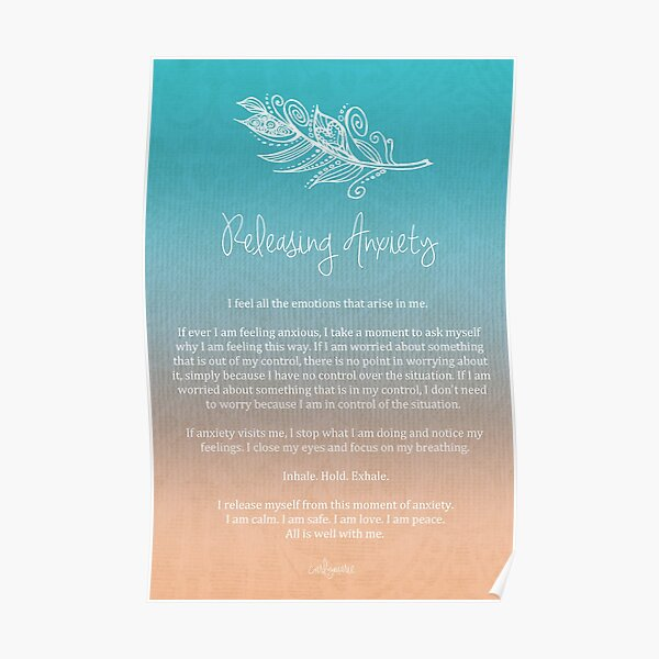 Affirmation - Releasing Anxiety Poster