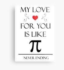 Romantic Pi Message Metallbild