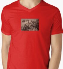 old timey tulips Mens V-Neck T-Shirt