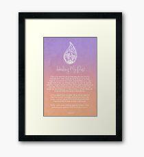 Affirmation - Healing My Past Framed Print