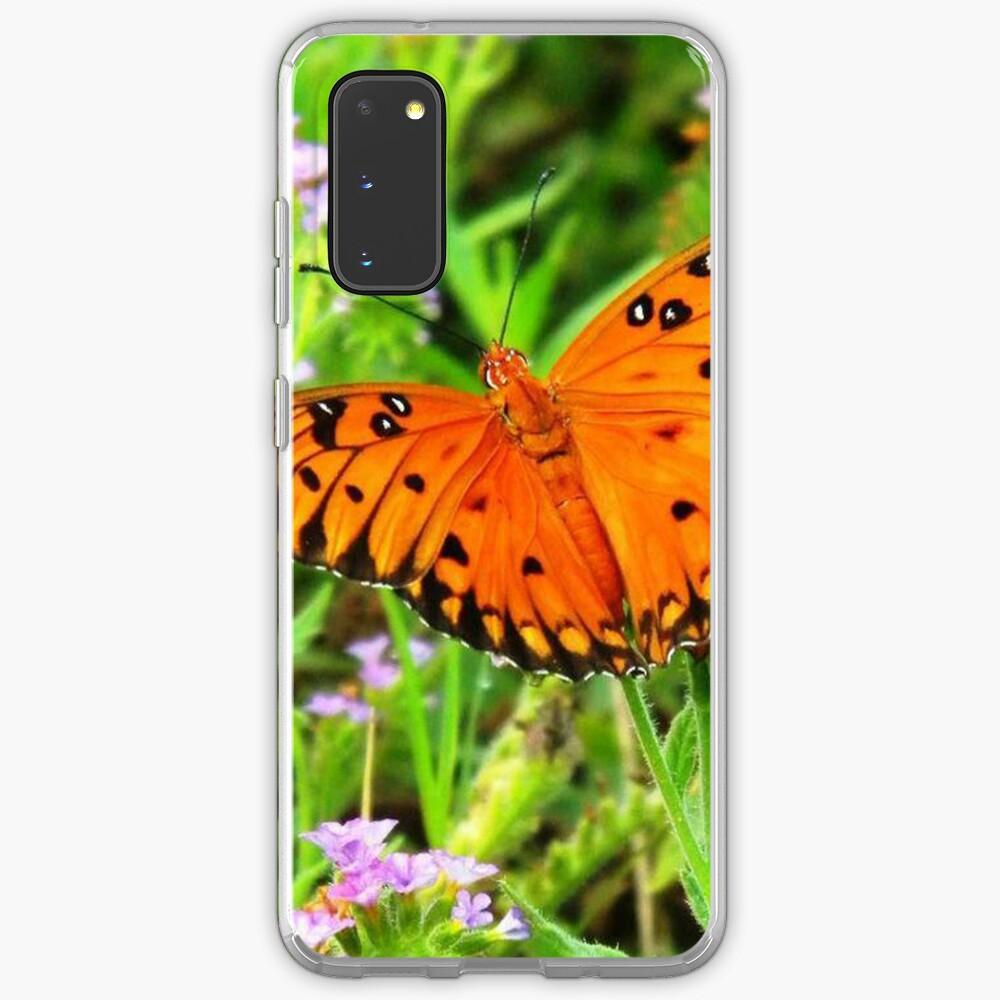 Orange Butterfly Windows From Heaven Case & Skin for Samsung Galaxy