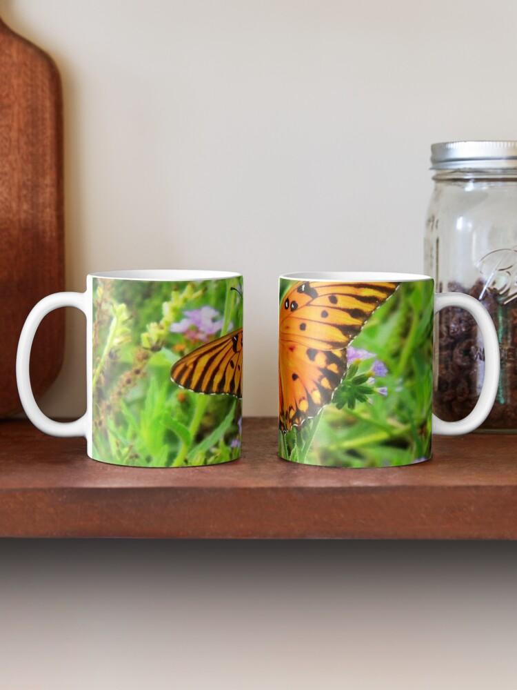 Alternate view of Orange Butterfly Windows From Heaven Mug