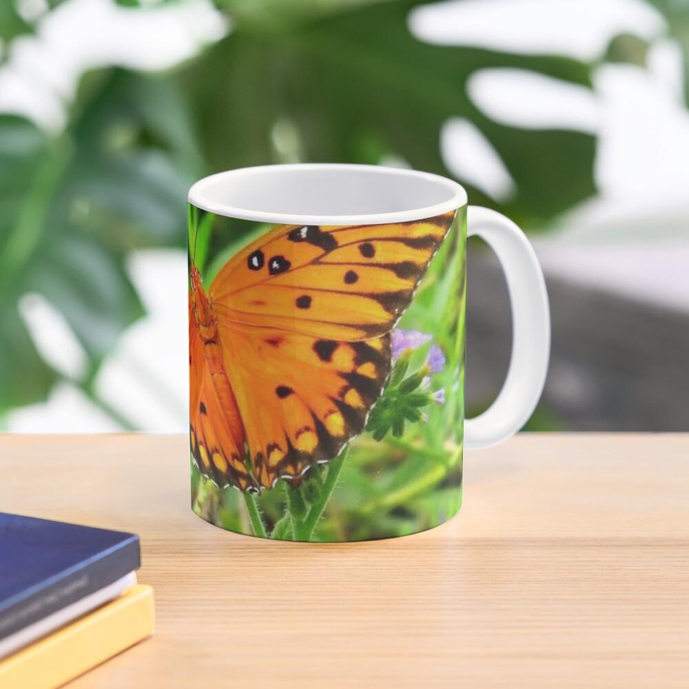 Orange Butterfly Windows From Heaven Mug