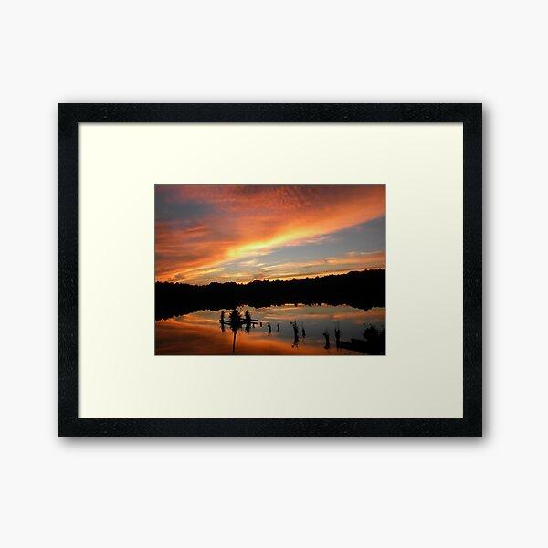 Windows From Heaven Sunset Framed Art Print