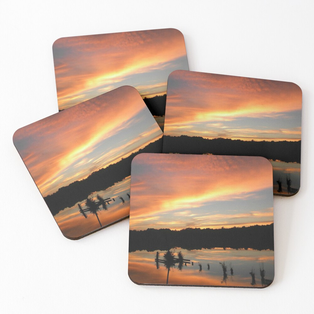 Windows From Heaven Sunset Coasters (Set of 4)