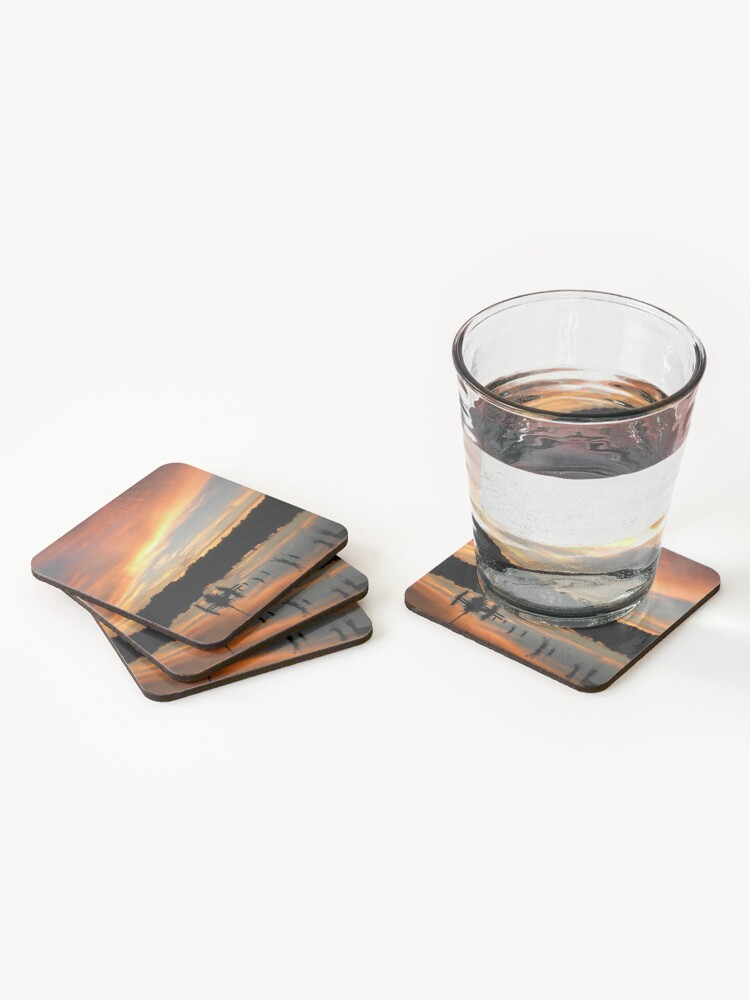 Alternate view of Windows From Heaven Sunset Coasters (Set of 4)