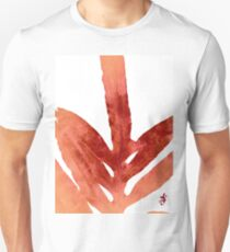Green Fern Red Fire and White T-Shirt